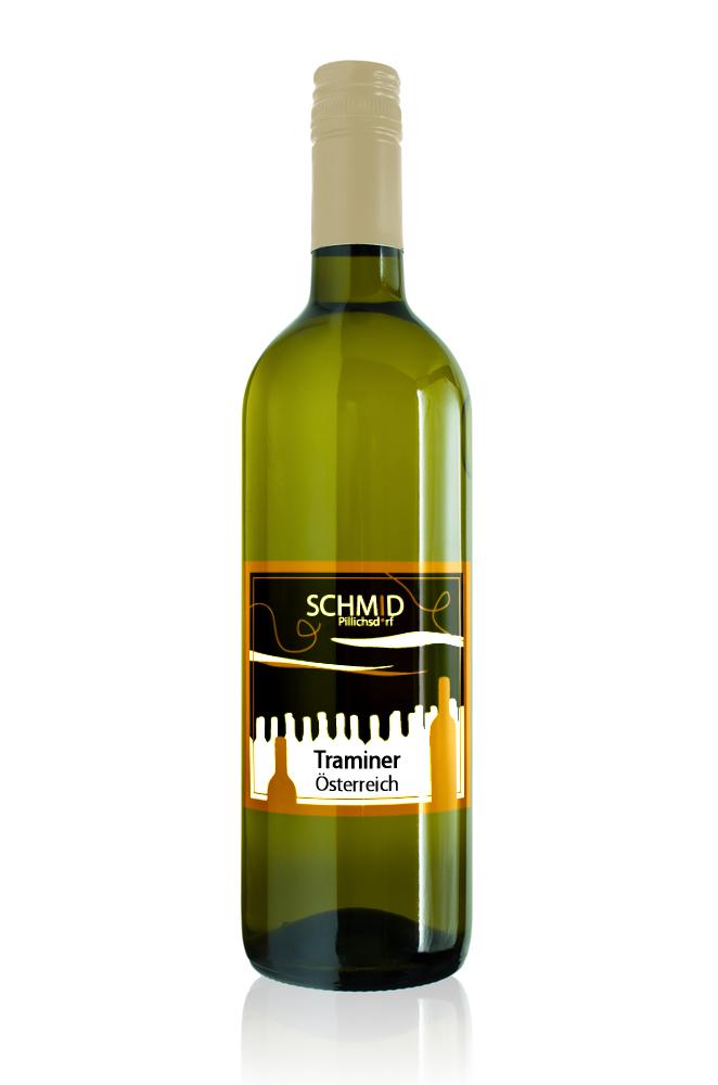 Bordeauxflasche Traminer vom Weingut Schmid Pillichsdorf